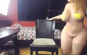Culona en web cam